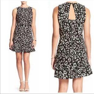 Banana Republic Open Back Leopard Print Dress Sz 6